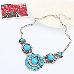 preiswerte Halsketten-Damen Statement Ketten - Böhmische, Europäisch, Boho Grau, Rot, Blau Modische Halsketten Schmuck Für