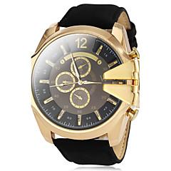 お買い得  メンズ腕時計-V6 男性用 軍用腕時計 リストウォッチ クォーツ カジュアルウォッチ PU バンド ハンズ チャーム ブラック / ブラウン / グリーン - Brown グリーン 海軍 2年 電池寿命 / 三菱LR626