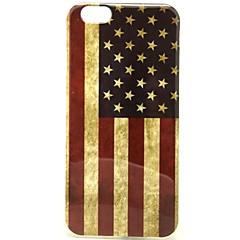 Для Кейс для iPhone 6 / Кейс для iPhone 6 Plus С узором Кейс для Задняя крышка Кейс для Флаг Мягкий TPUiPhone 6s Plus/6 Plus / iPhone