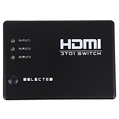 nieuwe 3 poorten hdmi audio video switch switcher 1080p splitter versterker afstandsbediening doos