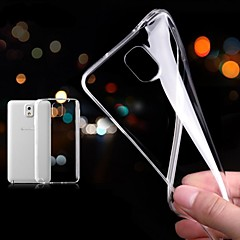 Недорогие Чехлы и кейсы для Galaxy Note 3-Кейс для Назначение SSamsung Galaxy Samsung Galaxy Note Ультратонкий Прозрачный Кейс на заднюю панель Сплошной цвет ТПУ для Note 3
