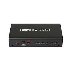 halpa Uudet tuotteet-4 portti 1080p HDMI autoswitch jakaja vaihtaja hub laatikko kaapeli LCD HDTV, metalli kotelo virtalähde