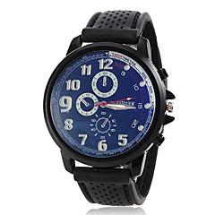 お買い得  メンズ腕時計-男性用 スポーツウォッチ 日本産 カジュアルウォッチ ラバー バンド ハンズ チャーム 白 / ブルー / レッド - レッド グリーン ブルー 1年間 電池寿命