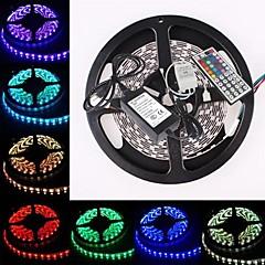 お買い得  LED ストリングライト-ZDM™防水5メートル300x5050 SMD RGBはストリップ柔軟な光+ RGB 44keyリモートコントロールを導いた(AC100-240V)