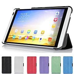 お買い得  タブレット用ケース-ケース 用途 Huawei フルボディケース / スタンド付き フルボディーケース ソリッド ハード PUレザー のために
