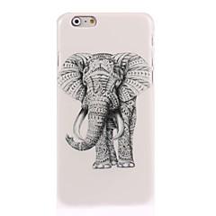 Недорогие Кейсы для iPhone 7-Кейс для Назначение Apple iPhone 6 iPhone 6 Plus iPhone 7 Plus iPhone 7 С узором Кейс на заднюю панель Слон Твердый ПК для iPhone 7 Plus