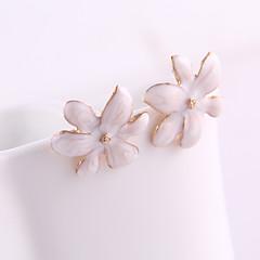 Серьги-гвоздики Кристалл Эмаль Сплав В форме цветка Бижутерия Повседневные