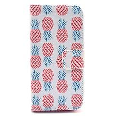 Недорогие Кейсы для iPhone-Кейс для Назначение iPhone 5 Apple Кейс для iPhone 5 Бумажник для карт Кошелек со стендом Флип С узором Чехол Фрукты Твердый Кожа PU для