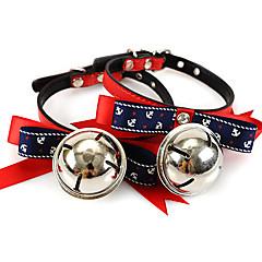お買い得  犬用首輪/リード/ハーネス-犬や猫アソートカラーのために小さな鈴とのタイスタイルの襟弓