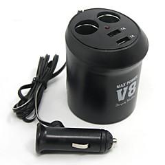 Недорогие Автоэлектроника-Tirol новый 12v 2-держатель чашки автоматический адаптер с 2USB Автомобильное зарядное устройство силы 5v / 2a сплиттер