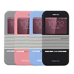 Для Кейс для iPhone 6 / Кейс для iPhone 6 Plus со стендом / с окошком / С узором Кейс для Чехол Кейс для Полосы / волосы Твердый