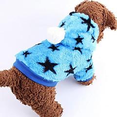 お買い得  犬用ウェア&アクセサリー-犬 コート 犬用ウェア Stars ブルー ピンク コットン テリレン コスチューム ペット用