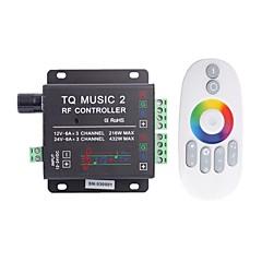 abordables Accesorios LED-6a de 3 canales de música de tq rf rgb llevó el regulador de audio con control remoto multifunción para rgb llevó la lámpara de la tira (cc 12-24)