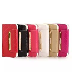 Для Кейс для iPhone 6 / Кейс для iPhone 6 Plus Бумажник для карт / Кошелек / со стендом / Флип / Рельефный Кейс для Чехол Кейс для