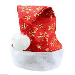 abordables Sombreros y Accesorios para la Cabeza-copos de nieve de oro unisex de adultos pelusa borde plano navidad sombreros de santa