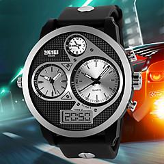 SKMEI Męskie Wojskowy Zegarek na nadgarstek Zegarek cyfrowy Kwarcowy Cyfrowe Kwarc japoński LCD Kalendarz Wodoszczelny Trzy strefy czasowe