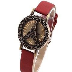 お買い得  レディース腕時計-女性用 クォーツ PU バンド ブラック レッド ブラウン グリーン 黄色