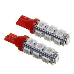 T10 Rood 2.5W SMD 5050 Dashboardverlichting Deurlicht
