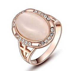preiswerte Ringe-Damen Kristall Statement-Ring - Krystall, vergoldet, Opal Personalisiert 6 / 7 / 8 Für Hochzeit Party Alltag / Diamantimitate / Kubikzirkonia