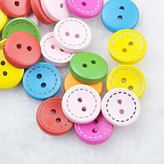 värikäs leikekirja scraft ompelu DIY puinen painikkeet (10 kpl random väri)