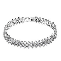 preiswerte Armbänder-ROXI Gift Classic  Top Swiss Zircon Crystals Luxury Platinum Bracelet For Party