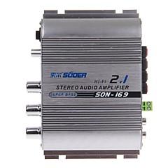 suoer Sohn-169 300W Multifunktions-Stereo-Car-Audio-Leistungsverstärker (silber)