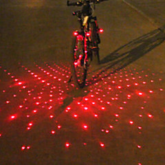 voordelige Fietsverlichting-Fietsverlichting Achterlicht fiets Koplamp fiets bar end lights Laser LED Wielrennen Alarm Laser Waarschuwing multi-tool LED Lamp Lumens