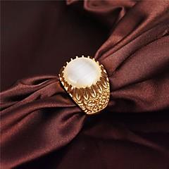 Gyűrűk Parti / Napi / Hétköznapi Ékszerek Ötvözet / Drágakő / Arannyal bevont Vallomás gyűrűk9 / 10 / 8½ / 9½ Aranyozott