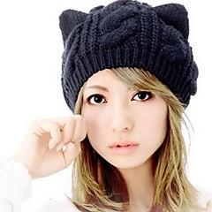 여성 귀여운 캐쥬얼 겨울 블랙