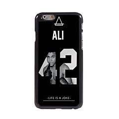 Для Кейс для iPhone 6 / Кейс для iPhone 6 Plus С узором Кейс для Задняя крышка Кейс для Черный и белый Твердый МеталлiPhone 6s Plus/6