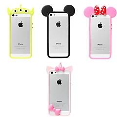 billige Etuier til iPhone 5S/SE-Etui Til iPhone 5 iPhone 5 etui Stødsikker Stødfanger etui 3D-tegneseriefigur Blødt Silikone for iPhone SE/5s