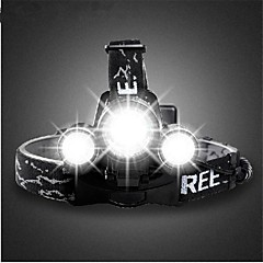 お買い得  在庫一掃-ヘッドランプ 自転車用ライト 自転車用ヘッドライト ヘッドライト LED Cree T6 サイクリング 充電式 18650 3000 ルーメン バッテリー キャンプ/ハイキング/ケイビング 日常使用 サイクリング 狩猟 釣り 旅行 ワーキング バイク用