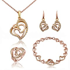Earring And Necklace And Ring And Bracelet Suits Women Vintage/Cute/Party/Work/Casual Alloy/Crystal Other)
