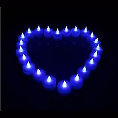 preiswerte Ausgefallene LED-Beleuchtung-Kerzenlicht Batterie Acryl 1 Lampe Inklusive Akku 9.0*4.5*4.5cm