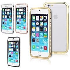 Для Кейс для iPhone 6 / Кейс для iPhone 6 Plus Стразы Кейс для Бампер Кейс для Один цвет Твердый МеталлiPhone 6s Plus/6 Plus / iPhone