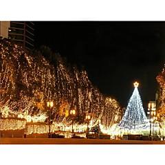 お買い得  LED アイデアライト-110v 100は、クリスマスパーティー装飾的な文字列ライト暖かい白/白を導いた