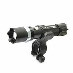 billige Pandelamper-LED Lommelygter Cykellys LED lm 5 Tilstand Justerbart Fokus Nedslags Resistent Glidesikkert Greb Genopladelig Vandtæt Slag Kant
