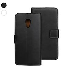 Pentru Carcasă Motorola Portofel / Titluar Card / Cu Stand / Întoarce Maska Corp Plin Maska Culoare solida Greu PU piele Motorola