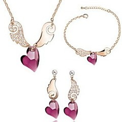 Necklace and earring and bracelet Women Vintage/Cute/Party/Work/Casual Alloy/Crystal Other)