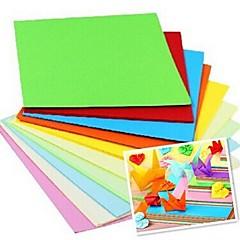 100 stk duft papercranes origami materialer 7 * 7cm (8color / pakke tilfældig farve)