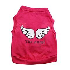 お買い得  犬用ウェア&アクセサリー-ネコ 犬 Tシャツ 犬用ウェア 天使&悪魔 パープル ローズ グリーン コットン コスチューム ペット用