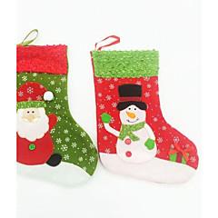 abordables Sombreros y Accesorios para la Cabeza-Calcetines 24cm de Navidad para la decoración de la fiesta de 2pcs (color al azar)