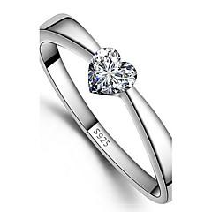 925 női szív nyomtatási gyűrűk