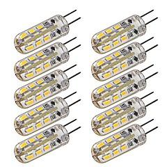 お買い得  LED 電球-10pcs 1.5w dimable g4はバイピンライトを導いた24 led 3014 dc 12v暖かい白い冷たい白い家の照明