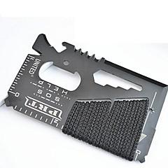 Χαμηλού Κόστους -14-σε-1 πόντος πορτοφόλι κάρτα αυτοάμυνας εξωτερική εργαλεία πολλαπλών λειτουργιών