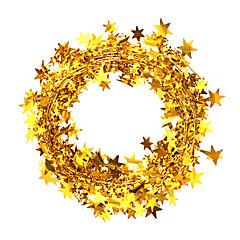 abordables Decoraciones-2pcs 7.5m nochi cuerda floja estrella de la Navidad del color de la raya adornos de navidad (colores surtidos)