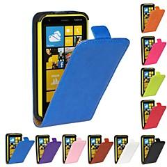 Para Capinha Nokia Flip Capinha Corpo Inteiro Capinha Cor Única Rígida Couro PU Nokia Nokia Lumia 620
