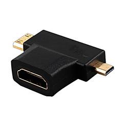 hdmi v1.4 naaras Mini HDMI uros + mikro HDMI uros HDMI Switch sovitin muunnin