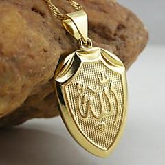 저렴한 -18K 황금 알라 이슬람 펜던트 도금