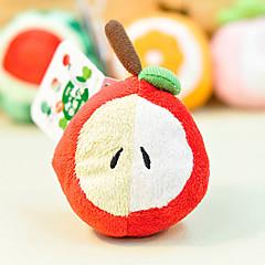 お買い得  犬用おもちゃ-ペットの犬のためのリンゴの形のぬいぐるみ